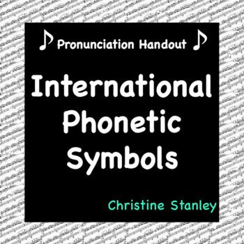 International Phonetic Symbols