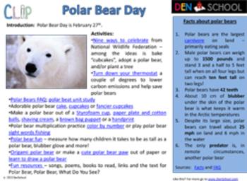 International Polar Bear Day CLIP (Creative Learning in a Pinch)