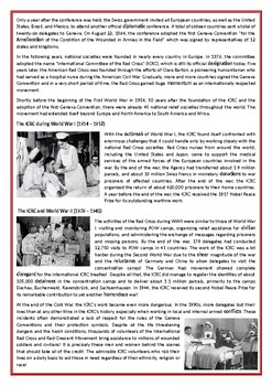 International Red Cross and Red Crescent Movement - Reading
