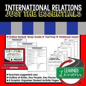 International Relations Outline Notes JUST THE ESSENTIALS Unit Review