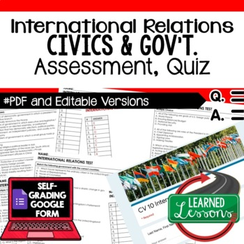 International Relations Test, Quiz, Civics Assessment