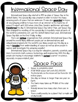 International Space Day Reading Activities