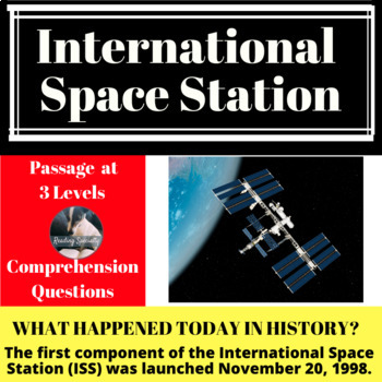 International Space Station Differentiated Reading Passage, November 20
