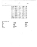 International Space Station Wordsearch with Key