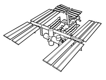 International Space Station coloring picture