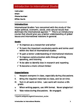 International Studies Syllabus (Doc)