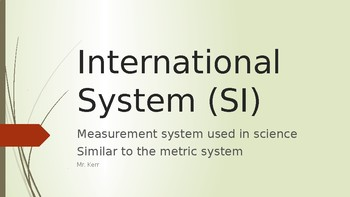 International System SI Units
