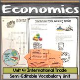 International Trade Vocabulary Unit