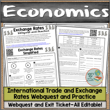 International Trade and Exchange Rates Webquest and Practice