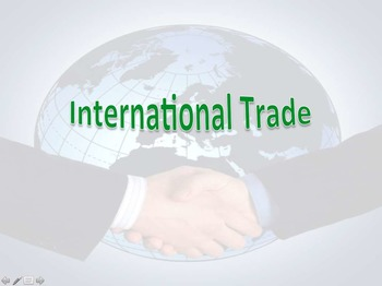 INTRO International Trade powerpoint and Classroom Trading Game
