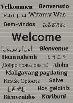 International Welcome Poster