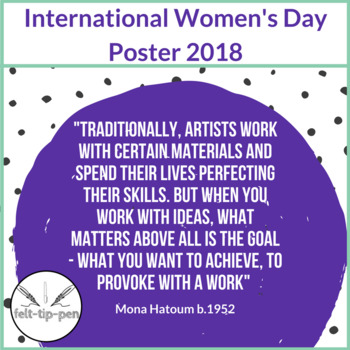 International Women's Day 2018 poster Art Quote