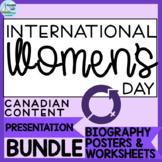 International Women's Day | Biography Posters, Worksheets & Presentation BUNDLE
