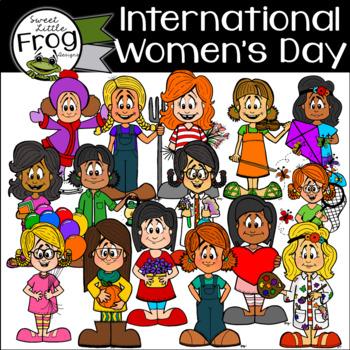 International Women's Day Clip Art Set