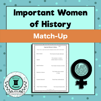 Important Women in History Match-Up