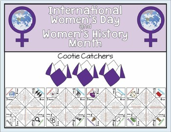 International Women's Day and Women's History Month Cootie Catchers