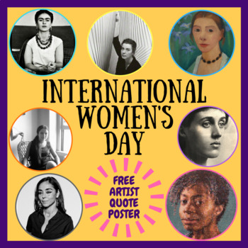 International Women's Day artist quotes poster / display