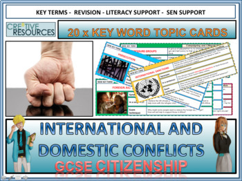 International and Domestic Conflict revision cards