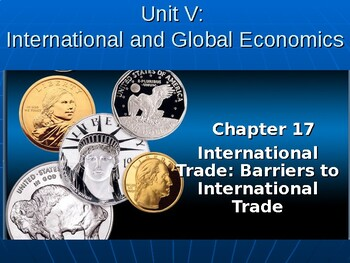 International and Global Economics: Barriers to International Trade