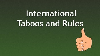 International taboos and rules