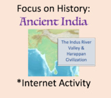 Internet Activity, Ancient India History, Indus River Valley, Harappa Worksheet