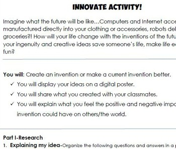 Internet Activity-Computer Lab Activity- Inventions