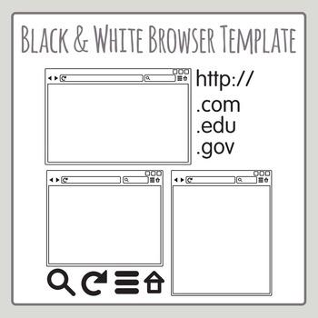 Internet Browser Line Art Clip Art for Commercial Use