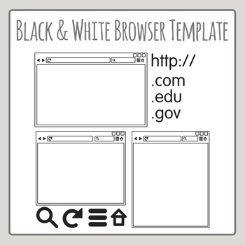Internet Browser Line Art Clip Art for Commercial Use