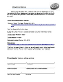 Internet Citations Worksheet