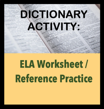 Internet Dictionary Activity - Fun game for class; Using references for ELA.