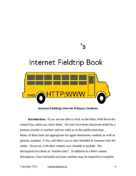 Internet Fieldtrip Journal, Websites, Related  Lesson Plans