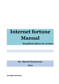 Internet Fortune Manual (Special Edition for Newbies)