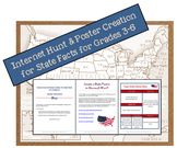 Internet Hunt & Poster Creation for State Facts for Grades 3-6