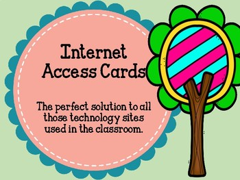 Internet Login Keeper Bookmark Cards for Students