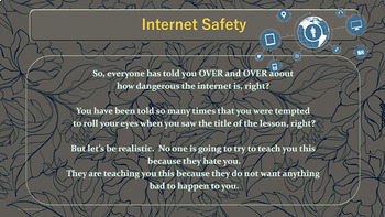 Internet Personal Safety Rules Lesson w 5 video links PBIS Character Ed