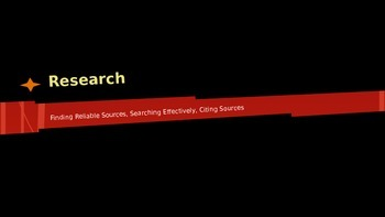 Internet Research Basics: Testing for Reliability and Searching Effectively