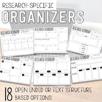 Internet Research Graphic Organizers for Elementary Students