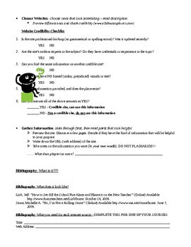 Internet Research Packet