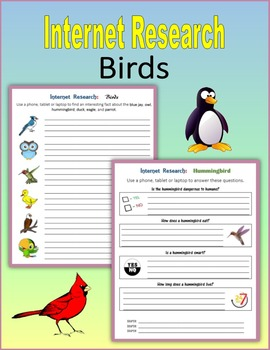 Internet Research on Birds