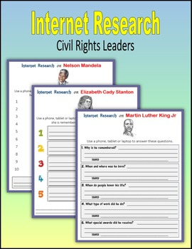 Internet Research on Civil Rights Leaders