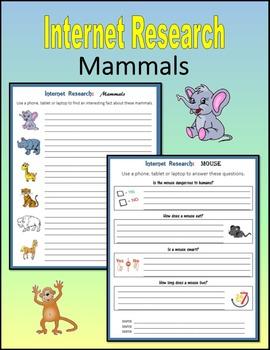 Internet Research on Mammals