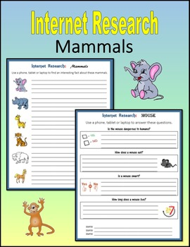 Internet Research on Mammals