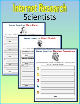 Internet Research on Scientists