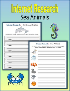 Internet Research on Sea Animals