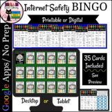 Internet Safety Activity Bingo Game Printable and No Prep Digital