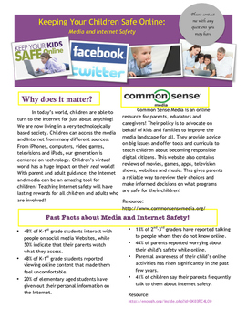 Internet Safety Brochure for Parents/Guardians