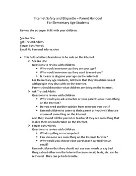 Internet Safety Bundle for K-5