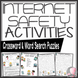 Internet Safety Activities Crossword Puzzle and Word Search Find