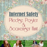 Internet Safety/ Cyberbullying Pledge Poster & Scavenger Hunt