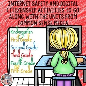 Internet Safety Digital Interactive Notebook K-5 Bundle